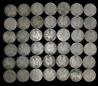 LOT OF 42 CANADA 25 CENT $10.50 FACE SILVER GEORGE V 1920 19
