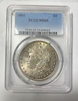 1884 P MORGAN SILVER DOLLAR PCGS MINT STATE 65