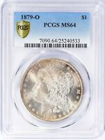1879-O PCGS MINT STATE 64 SECURE BETTER DATE MORGAN SILVER DOLLAR PCGS SHIELD HOLDER
