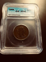 1806 DRAPED BUST HALF CENT   ICG GRADED EF 40
