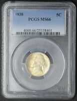 1938 JEFFERSON NICKEL PCGS MINT STATE 66
