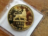 Click now to see the BUY IT NOW Price! EE 1958 1966 ETHIOPIA $100 GOLD GEM PROOF HAILE SELASSIE CROWNED LION OF JUDAH