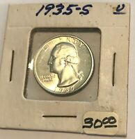 1935 S SILVER WASHINGTON QUARTER UNCIRCULATED