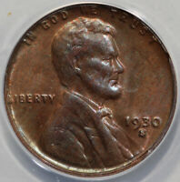 1930-S 1C LINCOLN CENT ANACS MINT STATE 63 RB