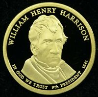 2009 S DEEP CAMEO PROOF WILLIAM HENRY HARRISON PRESIDENTIAL DOLLAR C01