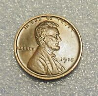 ONE 1918 P LINCOLN WHEAT CENT ----------------> AU