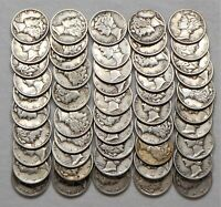 LOT OF 50 ROLL  CIRCULATED MERCURY DIMES    10  1941 D  10