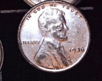 1936 SILVER PLATED LINCOLN WHEAT CENT