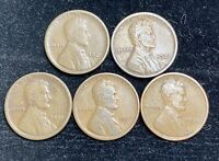 1920 PDS 1921 PS LINCOLN WHEAT PENNIES 5 COINS- SHIPS FREE 1