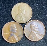 1939 P D S LINCOLN WHEAT PENNIES- SHIPS FREE 2