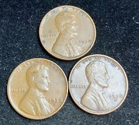 1938 P D S LINCOLN WHEAT PENNIES- SHIPS FREE