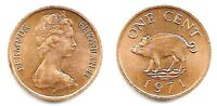 FIFTY NINE  59  BERMUDA 1 CENT UNCIRCULATED BRONZE COINS KM