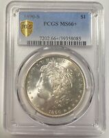1890 S MORGAN SILVER DOLLAR PCGS MINT STATE 66