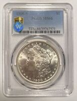1900 S MORGAN SILVER DOLLAR PCGS MINT STATE 66 SIGHT WHITE
