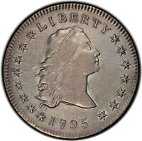 1795 $1 3 LEAVES PCGS EXTRA FINE 40