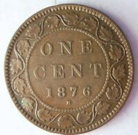 1876 H CANADA CENT   STRONG VALUE   EXCELLENT SCARCE COIN