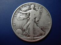 1939 VG/FINE WALKING LIBERTY HALF. 1