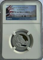 2010 S SILVER YOSEMITE WASHINGTON QUARTER   NGC PF70 ULTRA C