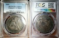 1859 $1 PROOF LIBERTY SEATED DOLLAR   NO MOTTO PCGS UNC DET