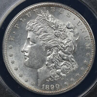 1890-S $1 MORGAN DOLLAR ANACS MINT STATE 62