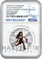 2016 BATMAN V SUPERMAN WONDER WOMAN1/2 OZ. SILVER COIN   NGC