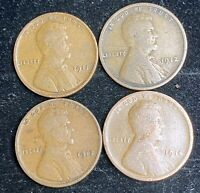 1911-1914 P LINCOLN WHEAT PENNIES- SHIPS FREE 1