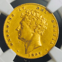 1827 GREAT BRITAIN GEORGE IV. GOLD