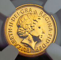 2012 GREAT BRITAIN ELIZABETH II. GOLD 1/4 SOVEREIGN COIN  2GM   NGC MS 68 DPL