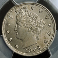 1906 UNITED STATES. BEAUTIFUL LIBERTY HEAD NICKEL  5 CENTS  COIN. PCGS MS 63