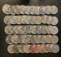 OLD AUSTRALIA COIN LOT   50 HIGH GRADE 5 CENT COINS   BIG LO