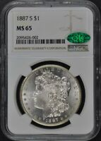 1887-S MORGAN DOLLAR S$1 NGC MINT STATE 65 CAC