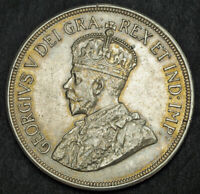 1928 CYPRUS  BRITISH ADMINISTRATION  GEORGE V. LARGE SILVER 48 PIASTRES COIN.