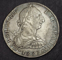 1777 MEXICO CHARLES IV. SPANISH COLONIAL SILVER 8 REALES COI