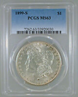 1899-S MORGAN DOLLAR MINT STATE 63 PCGS CERTIFIED