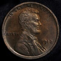 1912-P LINCOLN CENT -- CHOICE BU WITH ORIGINAL MINT LUSTER
