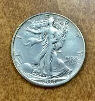 1919-S LIBERTY WALKING HALF DOLLAR - EXTRA FINE  DETAILS CLEANED