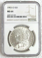 1903-0 MINT STATE 64 MORGAN SILVER DOLLAR .. NGC .. BEAUTIFUL LUSTROUS COIN .. KEY DATE