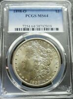 1898-O  MORGAN SILVER  DOLLAR PCGS  MINT STATE 64