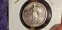 1917 S TYPE 1 STANDING LIBERTY QUARTER EXTRA FINE    EYE APPEAL  STRIKE