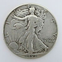1939  90 SILVER WALKING LIBERTY HALF DOLLAR  61620-106