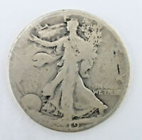 1919  90 SILVER WALKING LIBERTY HALF DOLLAR  62420-112