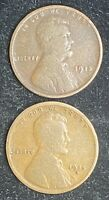 1915 P & D LINCOLN WHEAT PENNIES- SHIPS FREE