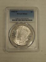 1902 O MORGAN DOLLAR PCGS MINT STATE 61 BRIGHT FREE USA SHIPPING  0574