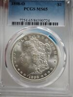 1898-O MORGAN SILVER DOLLAR PCGS MINT STATE 65  0724