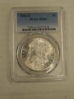 1902 O MORGAN DOLLAR PCGS MINT STATE 61 BRIGHT FREE USA SHIPPING  0528