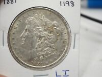 1881 MORGAN SILVER DOLLAR UNITED STATES  1198