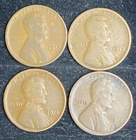 1911-1914 P LINCOLN WHEAT PENNIES- SHIPS FREE 2