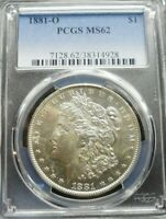 1881-O MORGAN DOLLAR PCGS MINT STATE 62