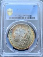 1884-CC MORGAN SILVER DOLLAR PCGS MINT STATE 65TONED OBVERSE AND REVERSE