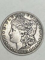 1881 $1 MORGAN SILVER DOLLAR US COIN. ESTATE FROM PRIVATE COLLECTION.